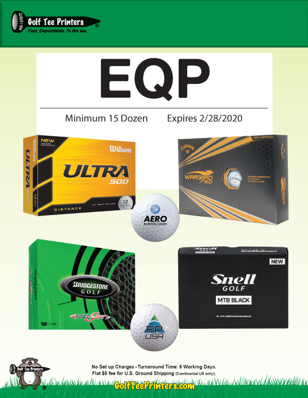 EQP on Logo Golf Balls